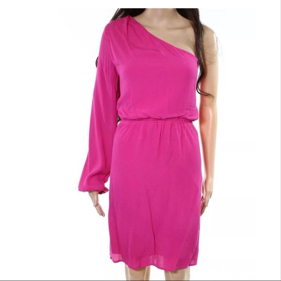 39218da48cf1 NSR Dresses | Pink Oneshoulder Blouson Sheath Dress | Poshmark